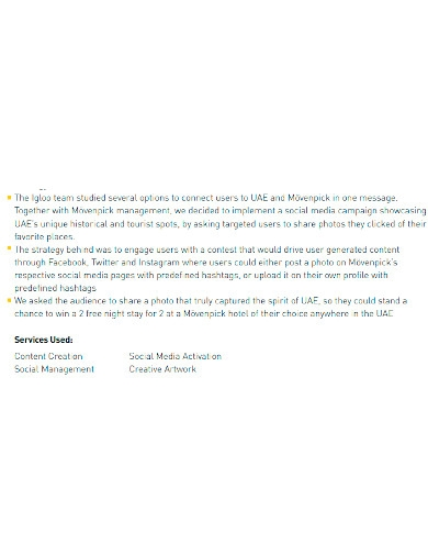 formal marketing company profile