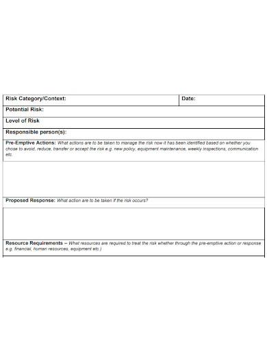 formal risk management action plan