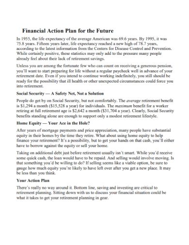 future financial action plan