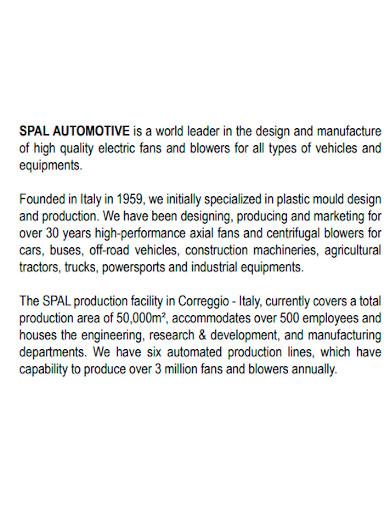 general automotive company profile
