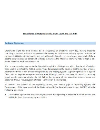 general health problem statement