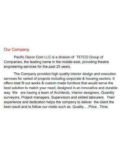 general interior company profile