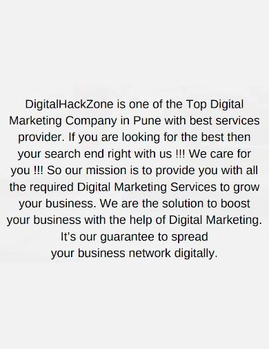 general marketing company profile