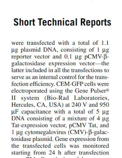general short technical report