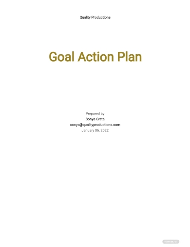 goal action plan template