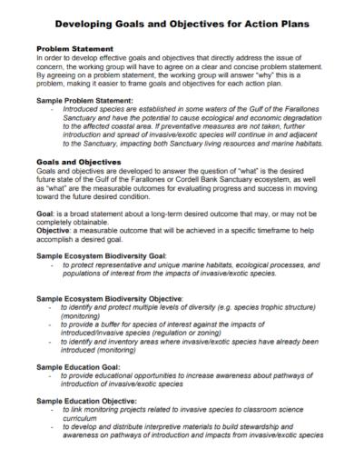 goal development action plan