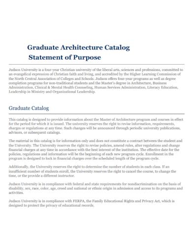 graduate architecture statement of purpose