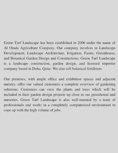 green turf landscape company profile