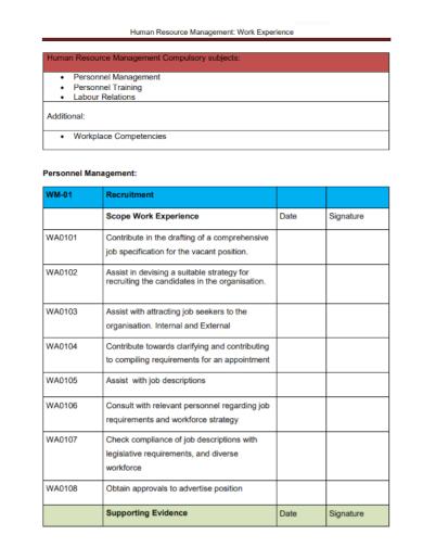 hr management scope of work