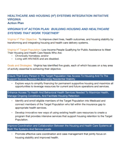 health care initiative action plan