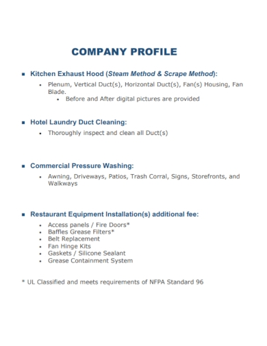 hotel laundry company profile
