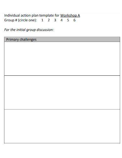 individual workshop action plan