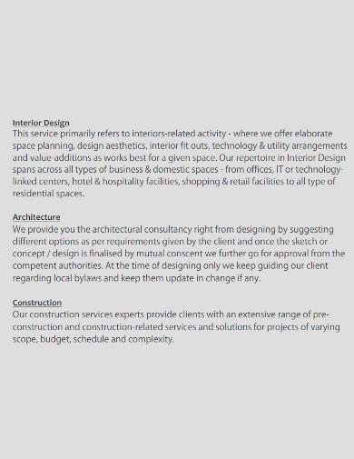 interior company profile sample