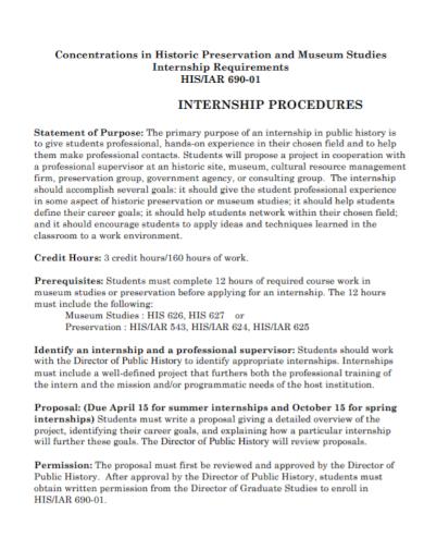 internship procedure statement of purpose