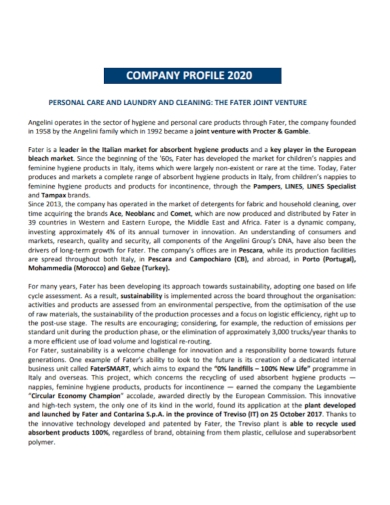 joint venture laundry company profile