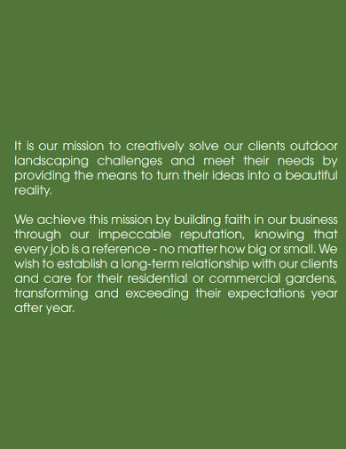 landscape company profile format