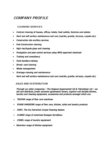 laundry equipment company profile