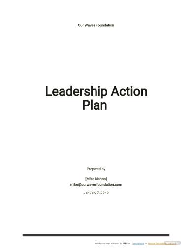 leadership action plan template