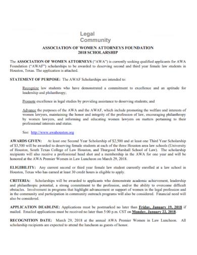 legal community statement of purpose