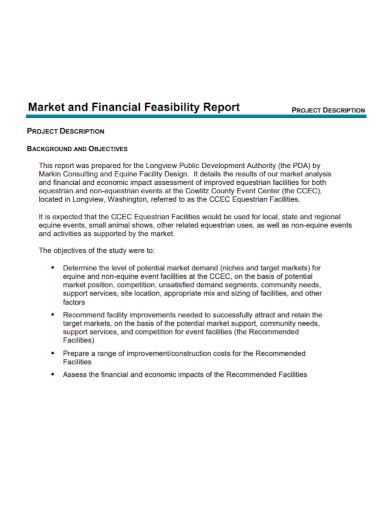 market financial feasibility report