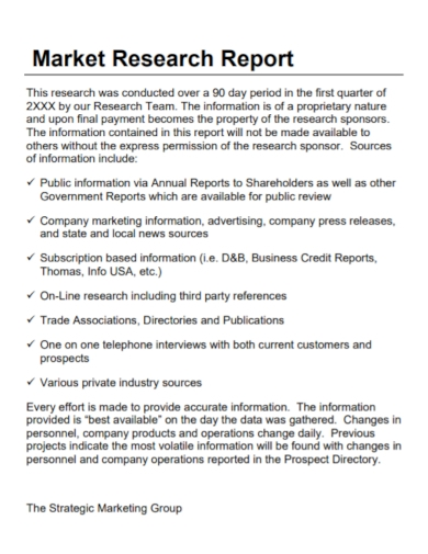 market research business analysis report