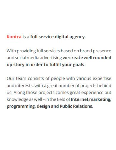 marketing agency company profile