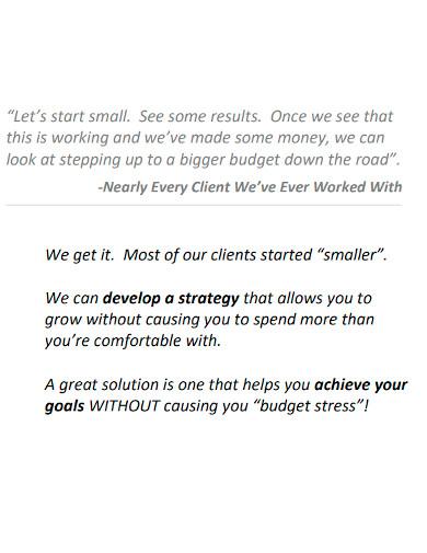 marketing company profile format