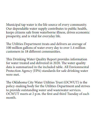 municipal water quality report