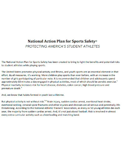 national sports action plan