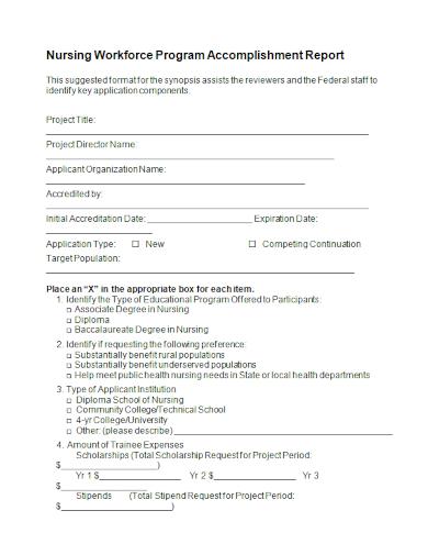 nurses workforce accomplishment report