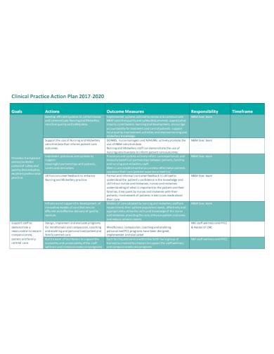 nursing clinical practice action plan