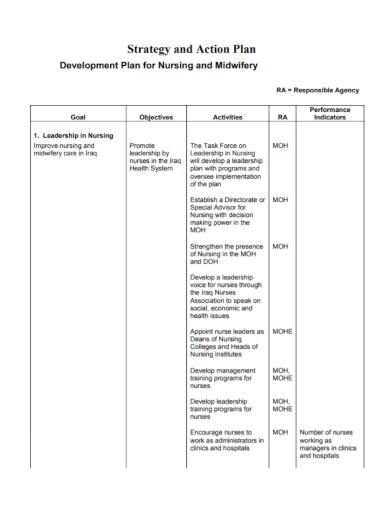 nursing development action plan