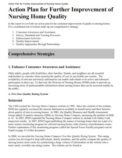 nursing home quality action plan