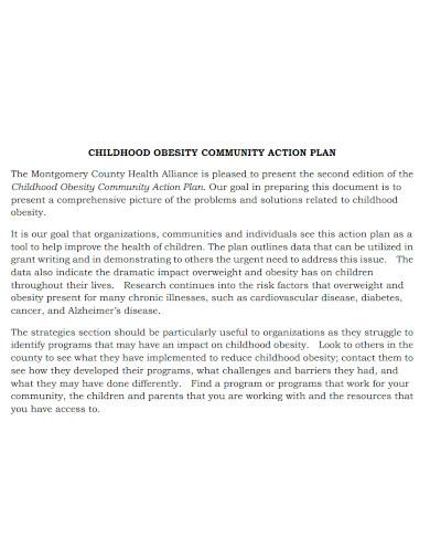obesity community action plan