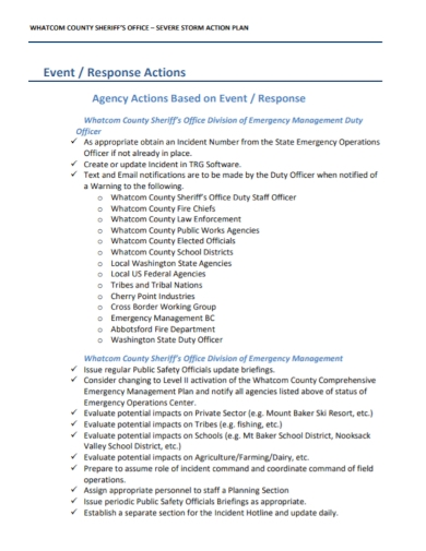 office event response action plan