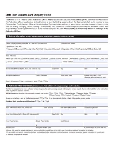 one page farm company profile
