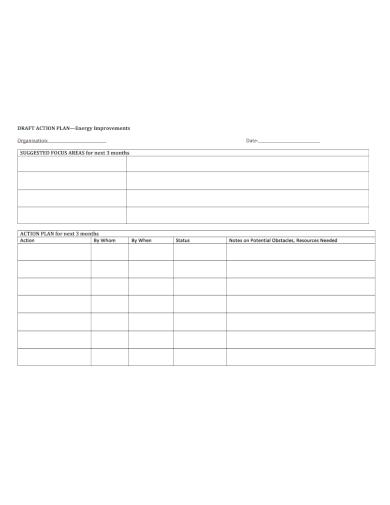 organization energy improvement action plan