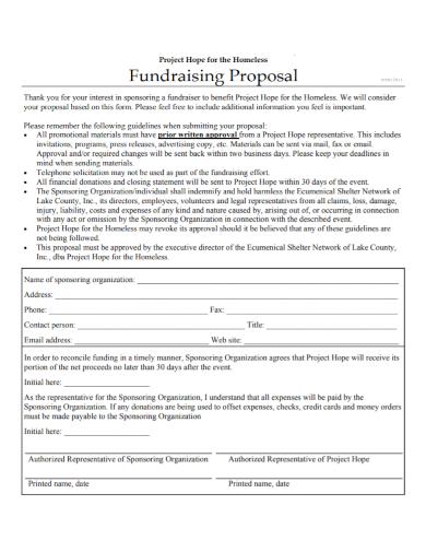 organization fundraising project proposal