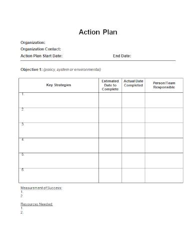 organization strategy action plan