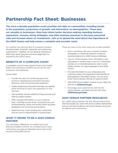 partnership business fact sheet