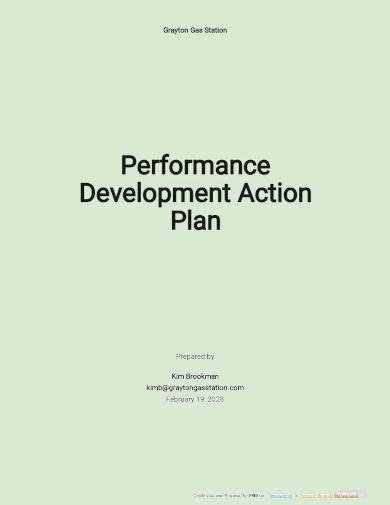 performance development action plan template