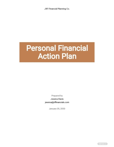 personal financial action plan template