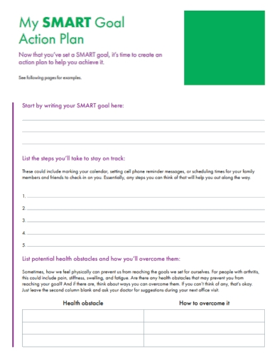 personal goal action plan
