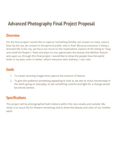 photography final project proposal