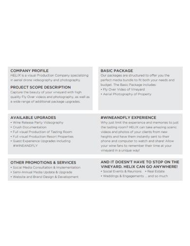 photography production company profile