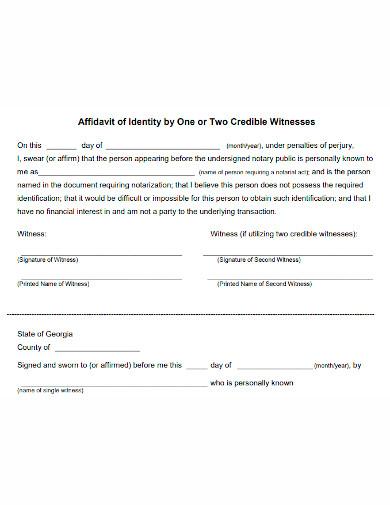 printable affidavit of witness