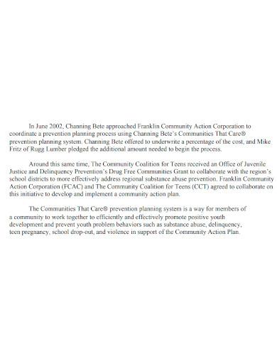 printable community action plan