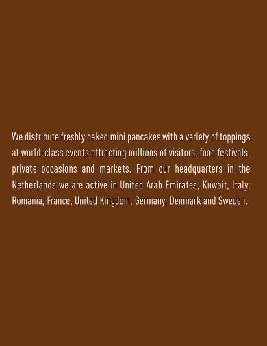printable food company profile