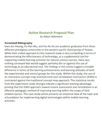 printable research proposal action plan