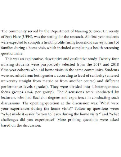 printable short research report